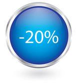 20 percent discount button — Stock Vector