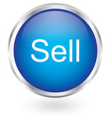 Sell icon glossy button — Vecteur