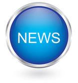 News icon glossy button — Stock Vector