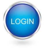 Login icon glossy button — Stock Vector