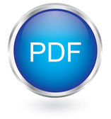 Pdf glossy icon — Stock Vector