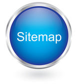 Blue sitemap glossy button — Stock Vector