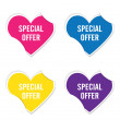 Vector - Special offer symbol icon valentine heart stickers. — Stock Vector #62684901