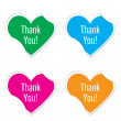 Vector - thank you icon valentine heart stickers. — Stock Vector #62689255