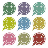 Vector - Set of speech bubbles with smile face icon — Stok Vektör
