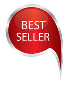 Best seller sign icon. speech bubble — Stockvector