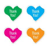 Vector - thank you icon valentine heart stickers. — Vettoriale Stock