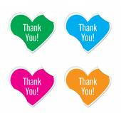 Vector - thank you icon valentine heart stickers. — Stock Vector