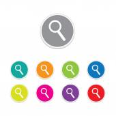 Vector - search button. Round stickers. — Stock Vector