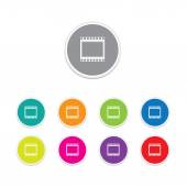 Vector - film strip icon. Round stickers. — Vetor de Stock
