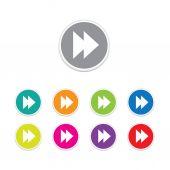 Vector - forward icon. Round stickers. — Stock Vector