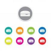 Vector - Set of hamburger icons — Stock Vector