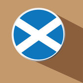Vector - Scotland Flag button icon with long shadow — Stock Vector