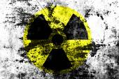 Sign of radiation on a grunge texture — Stock Photo