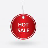 Red oval hot sale tag. vector illustration — Stock Vector