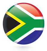 South Africa Flag Button — Stock Vector