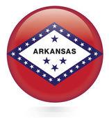 Arkansas flag button — Stock Vector