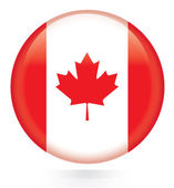 Canada flag Button — Stock Vector