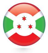 Burundi flag button — Stock Vector