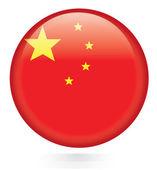 China flag button — Stock Vector
