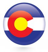 State of Colorado flag — Stock Vector