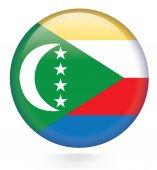 Comoros flag button — Stock Vector