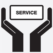 Hand showing service sign icon. Vector illustration. — Stock Vector