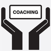 Hand showing free coaching sign icon. Vector illustration. — ストックベクタ