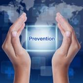 Prevention word on screen background. medical concept — Stockfoto