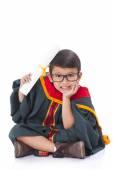 Happy boy in graduation suit. — Stock Photo