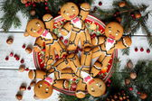 Christmas decoration with gingerbread — Stock Photo