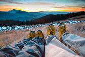 Love in mountain — Stock Photo