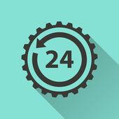 24 hour service icon — Stock Vector