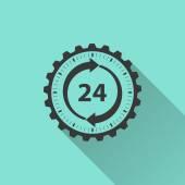 Icône du service 24 heures sur 24 — Vecteur