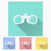 Binoculars icon — Stock Vector
