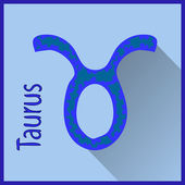 Taurus  Zodiac sign vector illustration — Stock Vector