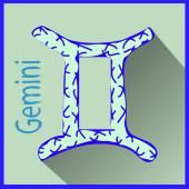 Gemini Zodiac sign vector illustration — Stock Vector