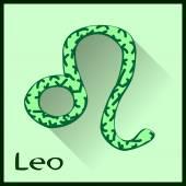 Leo  Zodiac sign vector illustration — Stock Vector