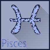Pisces Zodiac sign vector illustration — Stock Vector