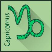 Capricornus  Zodiac sign vector illustration — Stock Vector