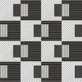 Abstract geometric seamless pattern. Black and white pattern . — Stock fotografie
