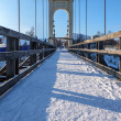 The bridge for pedestrians in the winter — Stock Photo #56567729