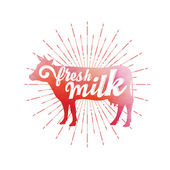 Fresh milk logo — Stock Vector