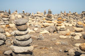 Stack of stones on beach in Tenerife island — Stock Photo