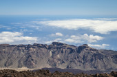 The end of the world. View fron Teide volcano. — Stock Photo