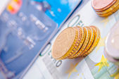 Moneda europea — Foto de Stock
