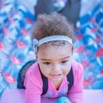 Happy Mixed Race Toddler Girl — Stock Photo #71007145