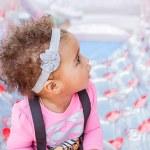 Happy Mixed Race Toddler Girl — Stock Photo #71007335