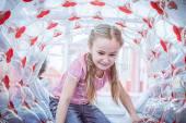 Happy girl enjoying in the Playground — Stock Photo
