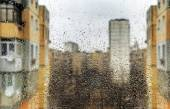 Rain on The dirty Window — Stock Photo